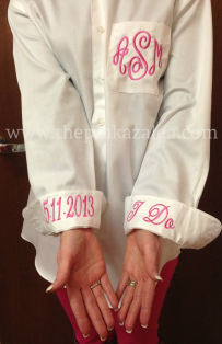 Monogrammed Wedding Day Shirt
